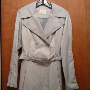 Trench Coat Laundry by Shelli Segal Light Blue M
